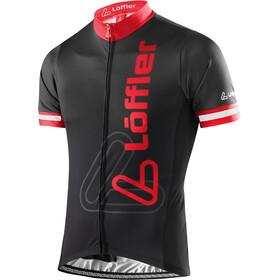 Löffler Racing Bike Trikot Full-Zip Herren schwarz/rot